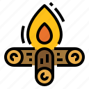 bonfire, camp, campfire, fire, party