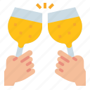 champagne, cheers, drink, party, wine icon