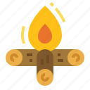 bonfire, camp, campfire, fire, party icon