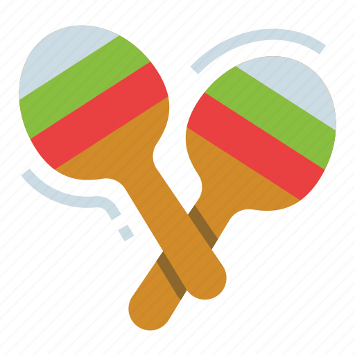 instrument, maracas, music, party, shaker icon
