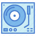 dj, music, player, turntable, vinyl icon
