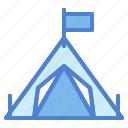 camp, camping, nature, tent, woods icon
