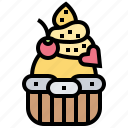 bakery, cupcakes, decoration, fancy, muffin icon