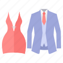 bash, celebration, clothes, dress, gala, party, theme icon