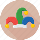 clown hat, costume, court jester, jester hat, joker hat icon
