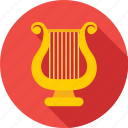 harp, lyre, melody, music, music instrument icon