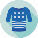 cardigan, clothing, jumper, pullover, sweater icon