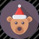 animal, bear, christmas, santa hat, toy