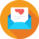 envelope, greetings, letter, love letter, valentine icon