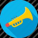euphonium, music, trombone, trumpet, tuba icon