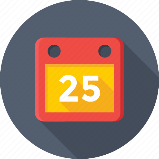 calendar, christmas day, date, day, yearbook icon