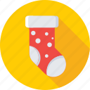 christmas, christmas stocking, fur stocking, socks, stocking icon