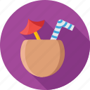 coconut, food, fruit, healthy, nut icon