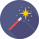 magic stick, wizard, magic, wand, magician icon
