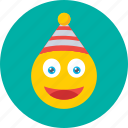 cartoon, character, christmas elf, elf, party hat icon