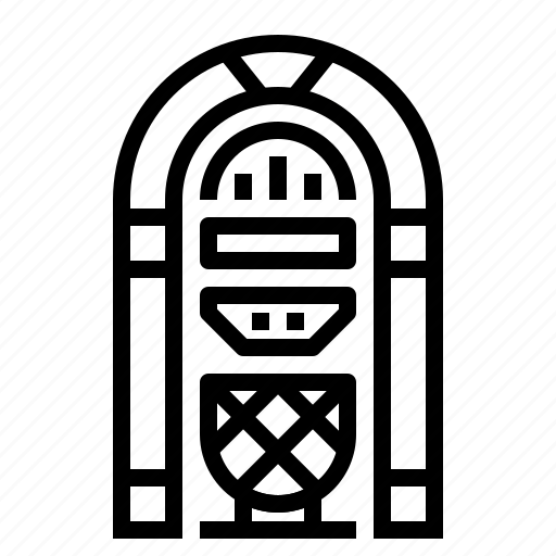 Jukebox, musical, retro icon - Download on Iconfinder