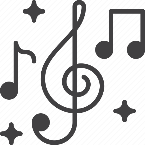 clef, music, notes, treble icon