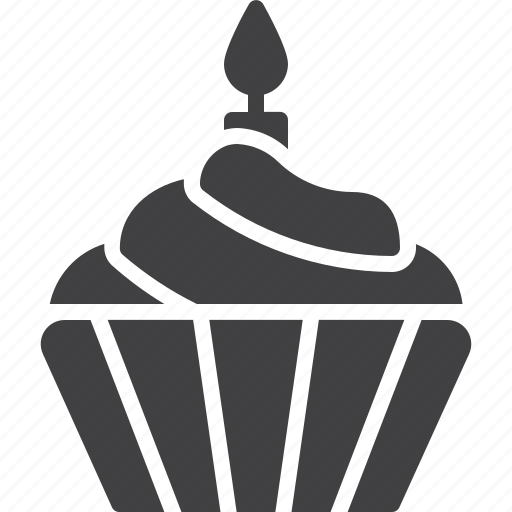 birthday, cake, candle, cupcake icon