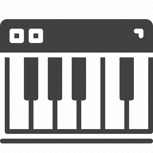 keyboard, keys, music, piano icon