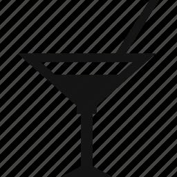 beverage, drink, glass, martini icon