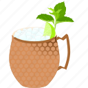 alcohol, cocktail, drink, moscow, moscow mule, mule, party icon