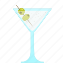 alcohol, celebration, cocktail, martini, olives, party icon