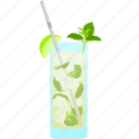 party, lime, cocktail, mint, alcohol, mojito icon