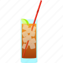 alcohol, cocktail, iced, island, long, long island iced tea, tea icon