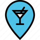 alcohol, bar, birthday, holiday, location, party icon