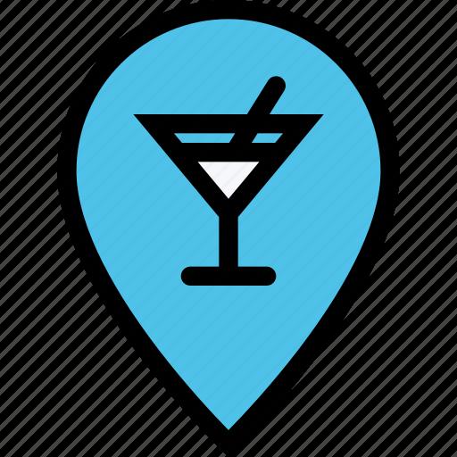 alcohol, bar, birthday, holiday, location, party icon