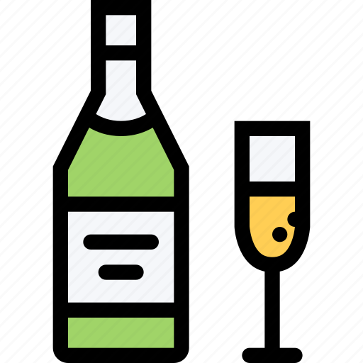 alcohol, bar, birthday, champagne, holiday, party icon