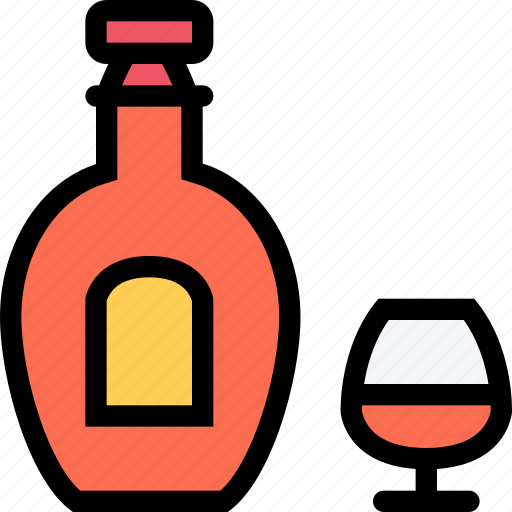 alcohol, bar, birthday, cognac, holiday, party icon