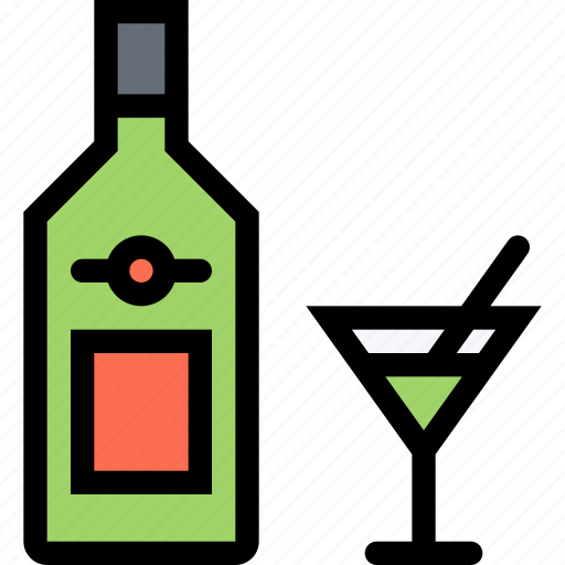 alcohol, bar, birthday, holiday, martini, party icon