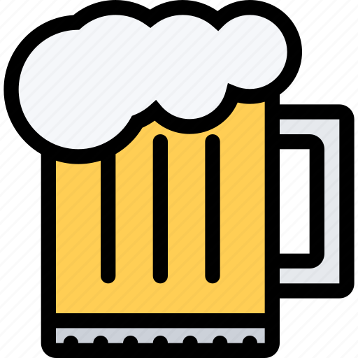 alcohol, bar, beer, birthday, holiday, mug, party icon