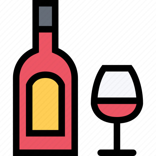 alcohol, bar, birthday, holiday, party, wine icon