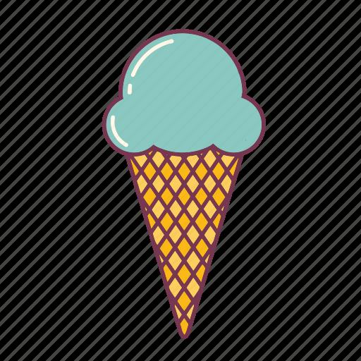 birthday, cone, cream, dessert, ice, icecream, party icon