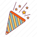 star, year, eve, stars, new, party, trumpet