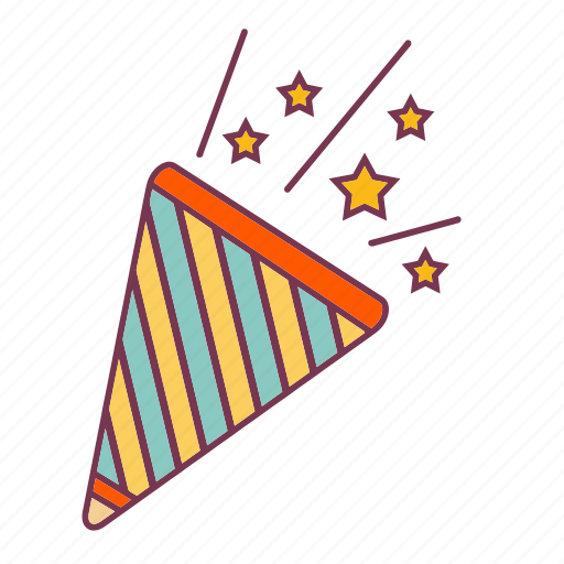 eve, new, party, star, stars, trumpet, year icon