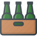 beer, box, cold, drimks, stack icon