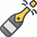 celebrate, champagne, new, party, year icon