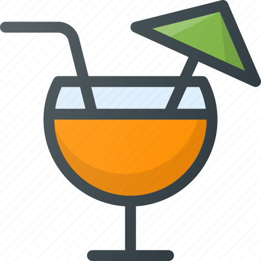 alcoholic, cocktail, drink, glass icon