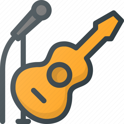 Concert, gouitar, live, microphine icon - Download on Iconfinder