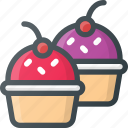 cupcakes, muffins, sweets icon