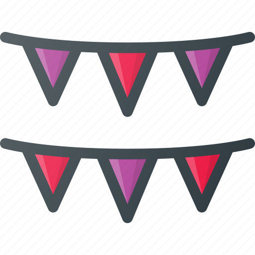 deco, decoration, flags, party icon