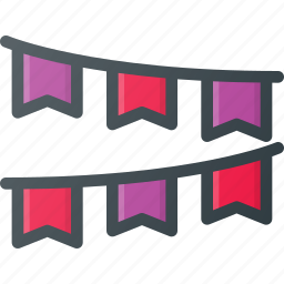 deco, decorations, flag, party icon