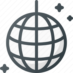ball, bulb, disco, lights, party icon