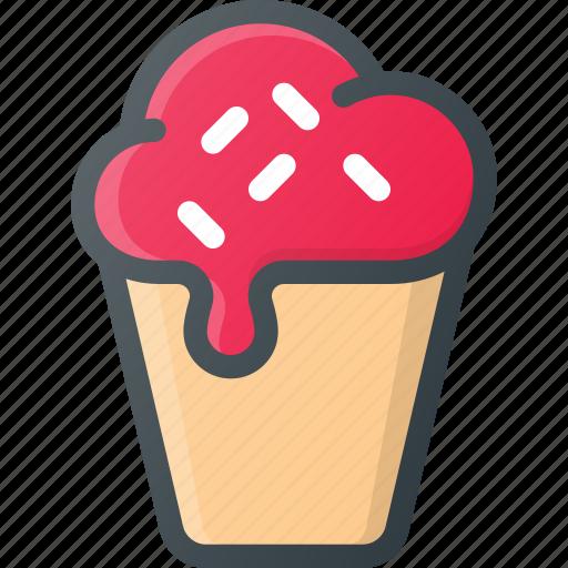 cold, cream, ice, icecream, sweet icon