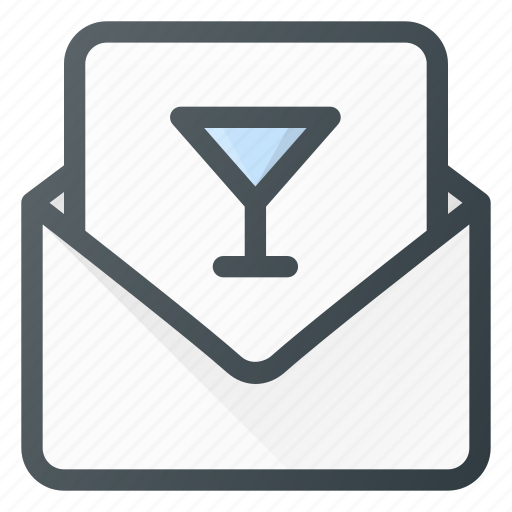 inbox, invitation, mail, message, party icon