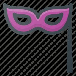 hallowen, mask, party icon