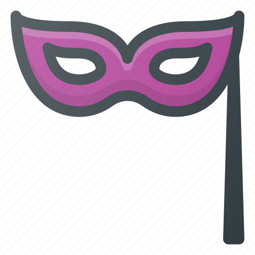 hallowen, mask, party icon